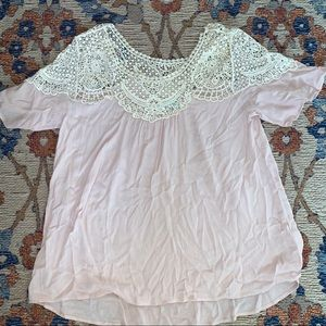 Blush top from Maurices